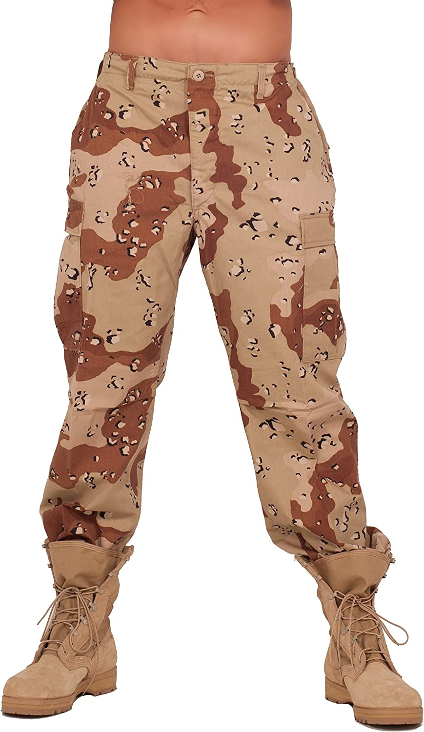 Rothco Mens BDU Desert Color Camoflauge Pants (6 Desert Color)