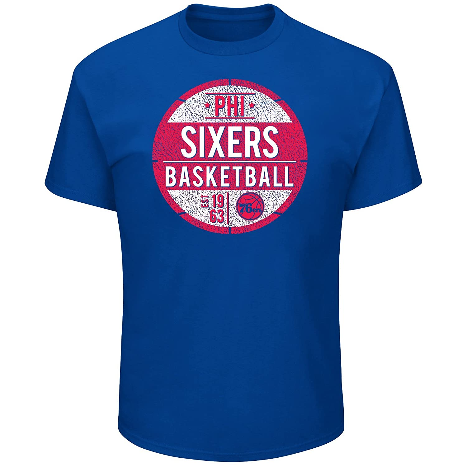 Profile Big /& Tall NBA Philadelphia 76ers Short Sleeve Screen Tee 5X Royal