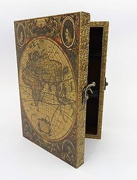 Clever-Deko Nostalgie - Caja para Llaves, diseño de Globo ...