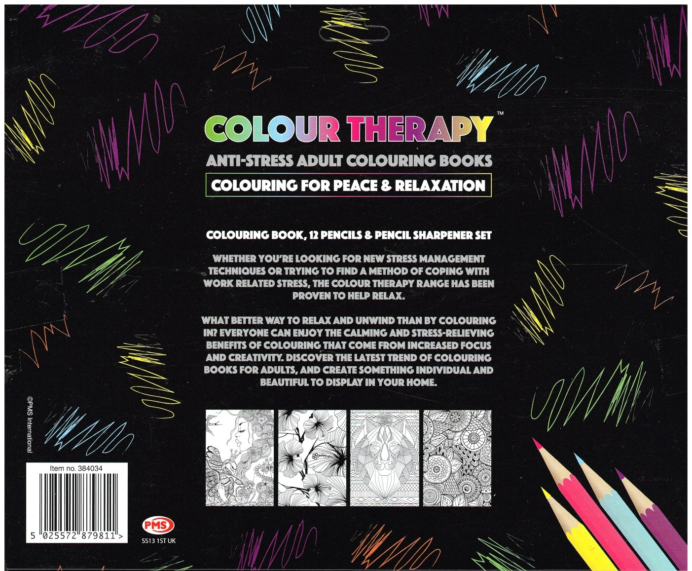 Colour therapy for relaxation - Colour Therapy Anti Stress Colouring Sharpner Set With Pencils Amazon Co Uk Books