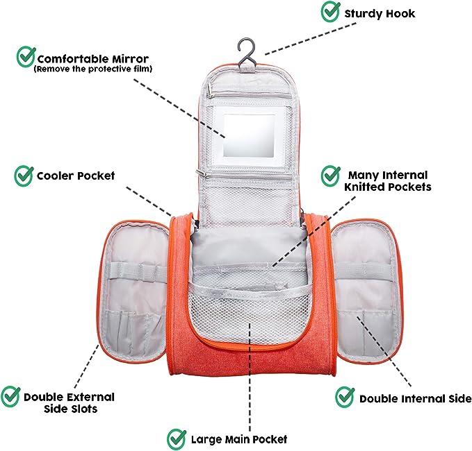 Reise Kulturtasche Damen Zum Aufhängen The Best Kulturbeutel Kosmetiktasche Waschtasche Für Kinder Frauen Mädchen Damen Coral Koffer Rucksäcke Taschen