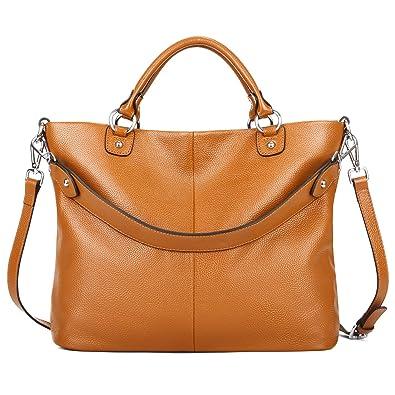 2bc9e246b8c Kattee Women's Soft Genuine Leather Tote Bag, Top Satchel Purses and  Handbags