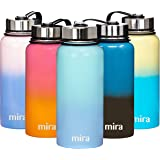 MIRA 32 Oz Stainless Steel Vacuum Insulated Wide Mouth Water Bottle   Thermos Keeps Cold for 24 Hours, Hot for 12 Hours   Double Walled Travel Flask   Salt Marsh