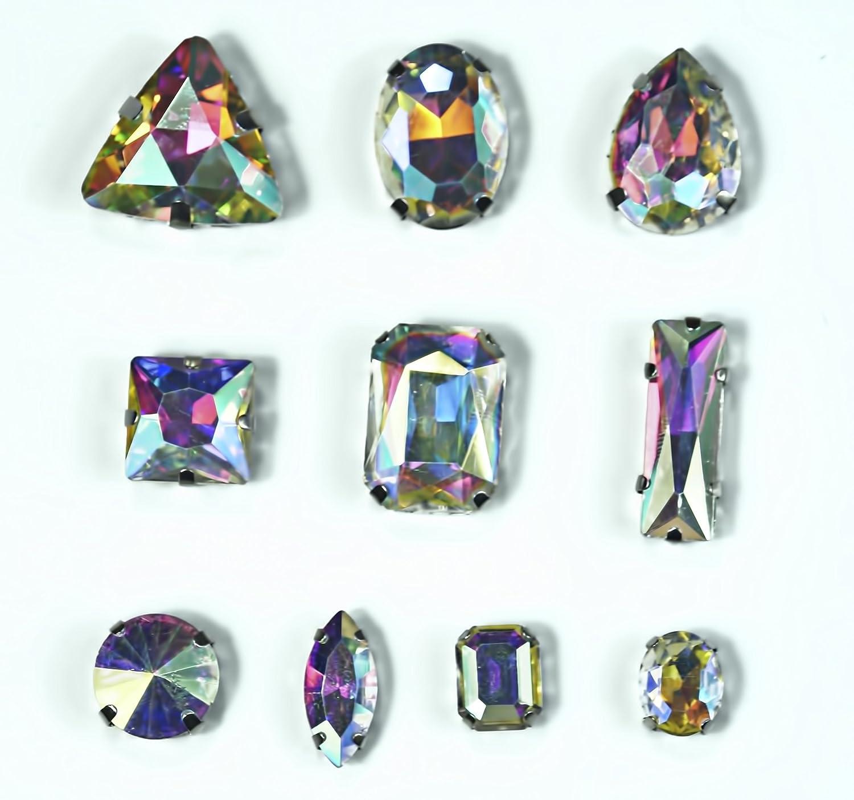 10x Swarovski ® crystals Flatback HotFix Crystal Peony Pink 2078 HF ss34 7mm