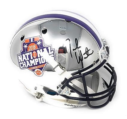 0ca79dc1c78 Deshaun Watson Clemson Tigers Signed Autograph Full Size RARE CHROME Helmet  BCS Champs Edition Watson Player