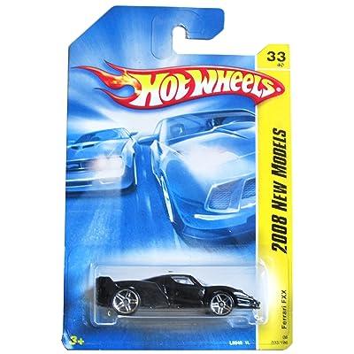 Hot Wheels Ferrari FXX Black, White Pin Down Top Side Pr5 2008 #33 1/64: Toys & Games