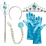 Katara - Costume de princesse - Déguisement de fête Cosplay Gants - Bleu ciel