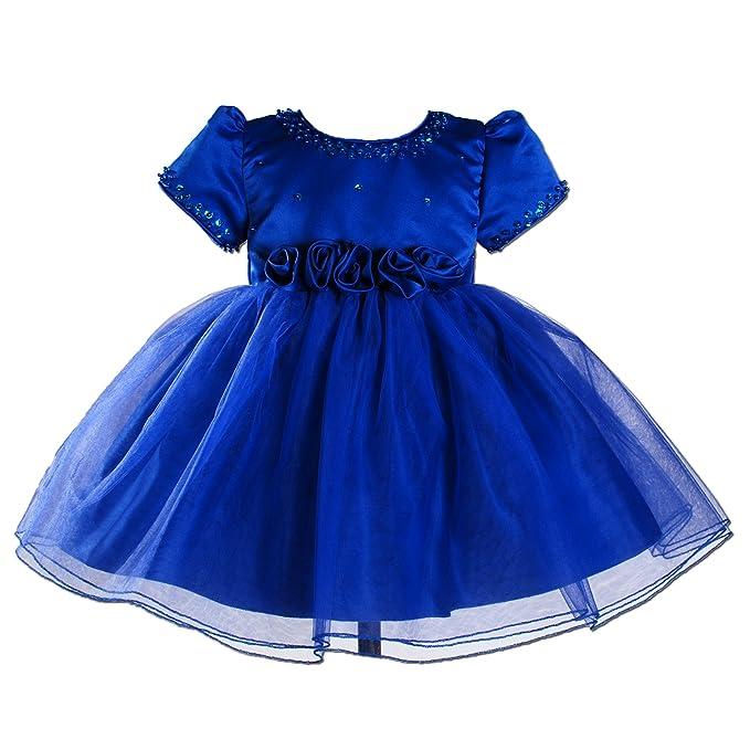 Cinda Bautizo de las muchachas del vestido de partido Azul 12-18 Meses