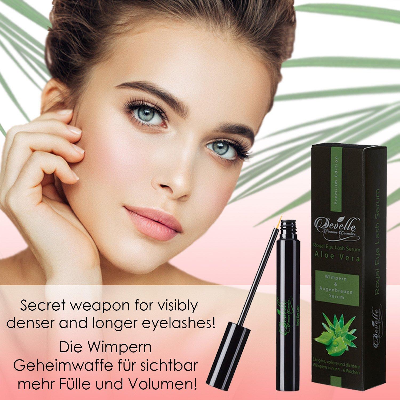 a325ca8ed78 Eyelash serum & Eyebrow serum 4 ml. with ALOE VERA | Develle Royal Eyelash  Serum | Eyelash Activating Serum | Eyelash growth-serum | Eyelash booster  ...