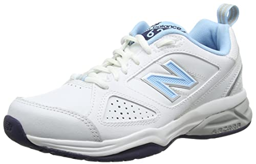 New Balance WX624WB4-624, Women Fitness Shoes, White (White/Blue 110