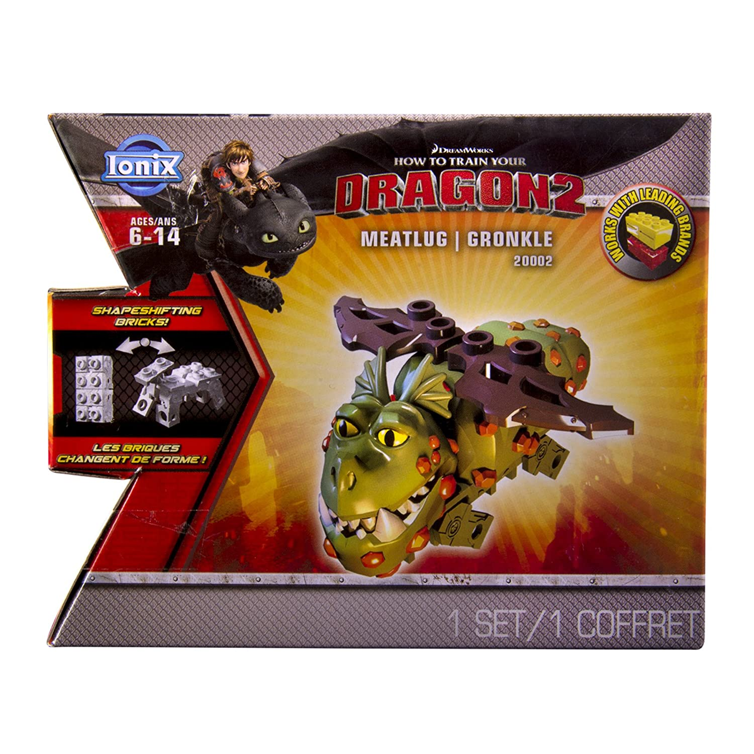 Amazon: Ionix: How To Train Your Dragon 2  Meatlug Gronckle 20002:  Toys & Games