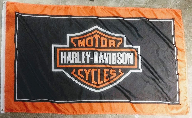 Amazon.com: Bandera de Harley Davidson para motocicleta ...
