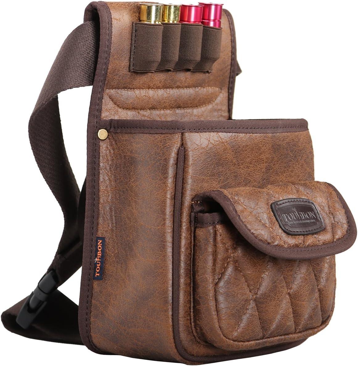 TOURBON PU Leather Shotgun Shell Bag Shooter's Bag for Range/Field 81UbVIgBT9L