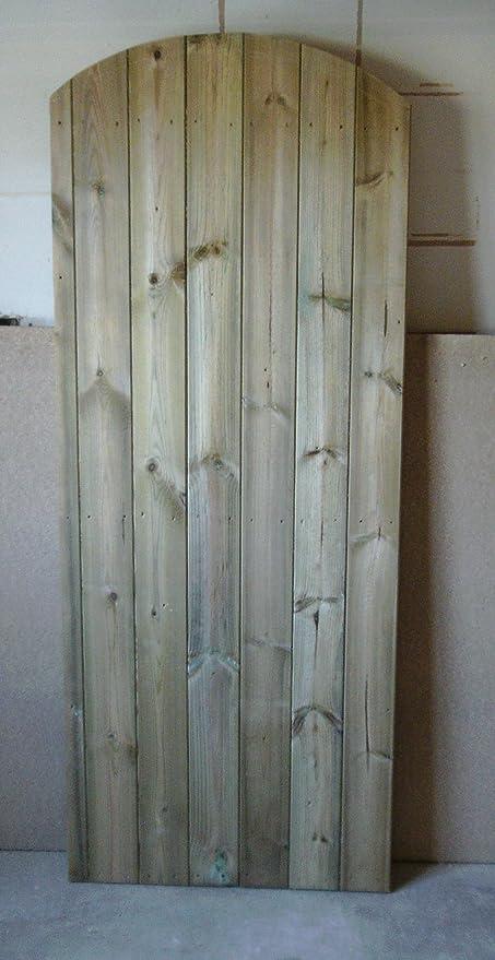 De madera jardín puertas parte superior redonda: Amazon.es: Bricolaje y herramientas