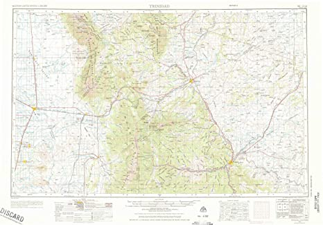 Amazon Com Yellowmaps Trinidad Co Topo Map 1 250000 Scale 1 X 2