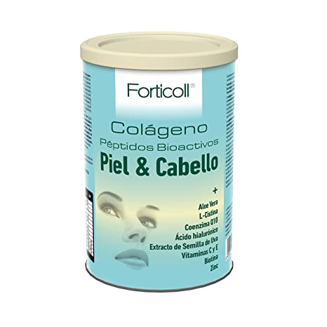 Forticoll Colágeno Piel y Cabello-Complemento alimenticio en polvo- 270 gr.