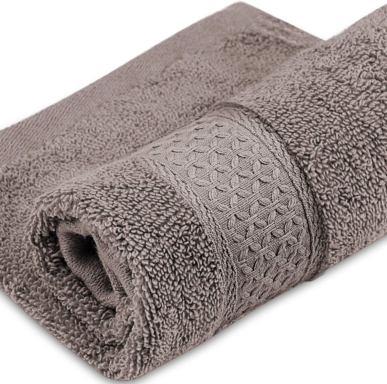 LiveComfort 8 Pezzi Asciugamano Set Asciugamano Bianco Lavabile in Lavatrice 2 Asciugamani da Bagno 2 Asciugamani e 4 Salviette 100/% Cotone Super Morbido e Assorbente