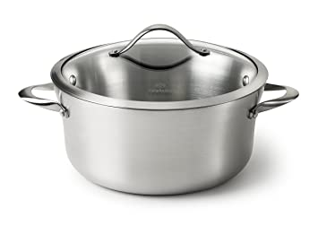 Great Calphalon Contemporary Stainless Steel 6.5 Quart Covered Sauce Pot