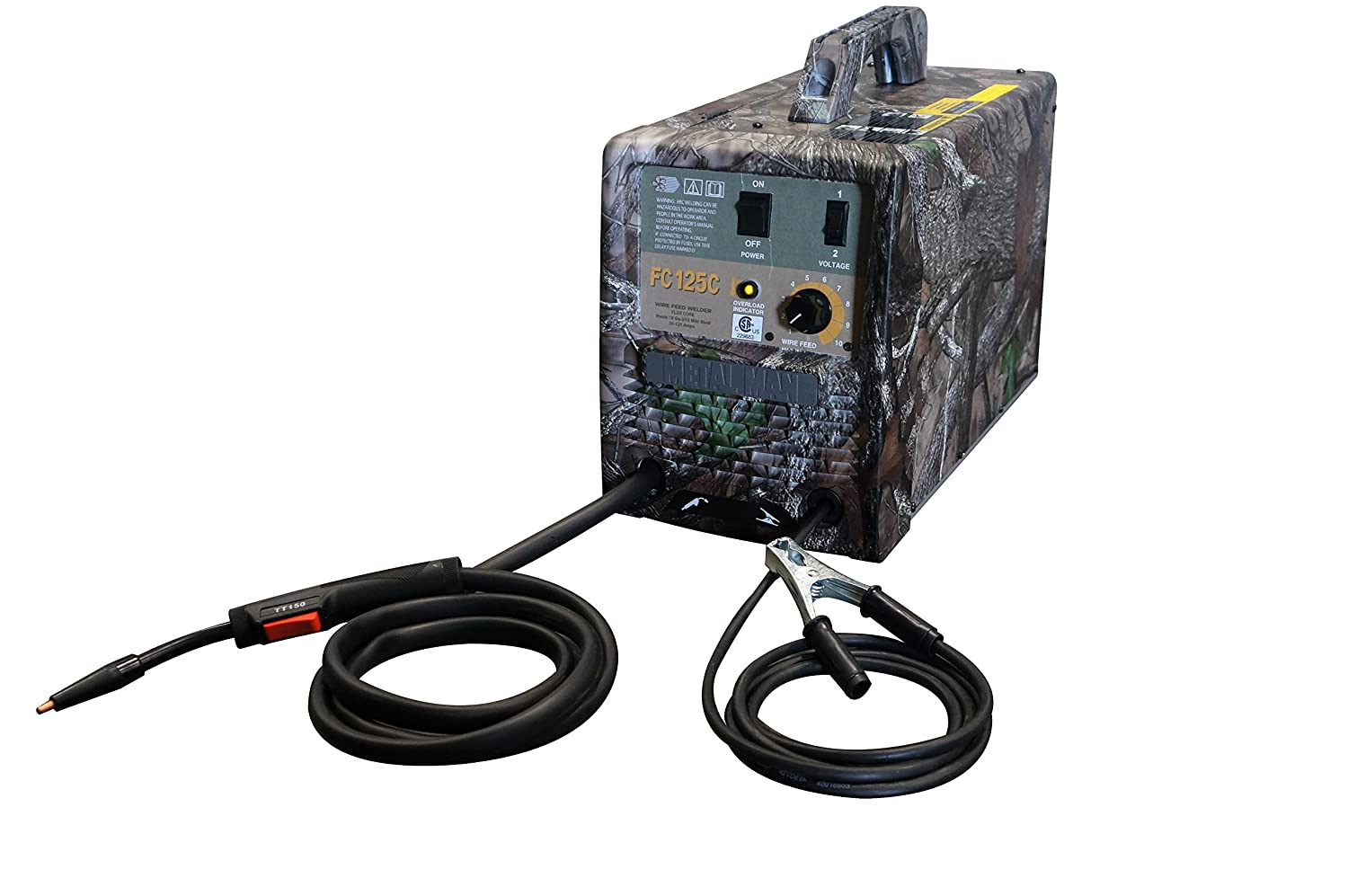 Metal Man Camo FC125 125-Amp/115-Volt Flux Core Wire Feed Welder ...