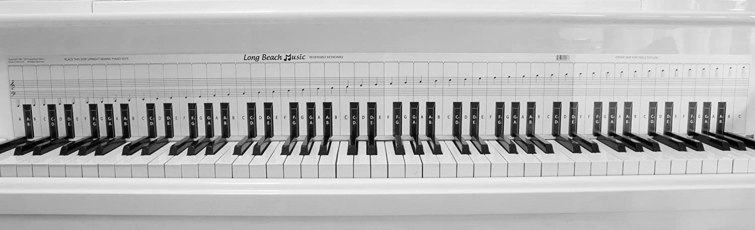 amazon com: practice keyboard & note chart for behind the piano keys:  musical instruments