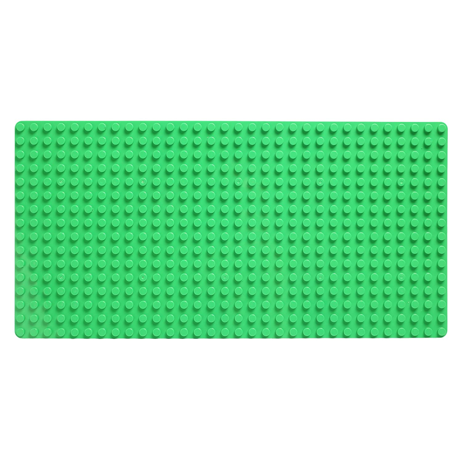 Katara 1739 Baseplate With Large Dots, Compatible With Lego Duplo, Hubelino, Papimax, Unico Plus, Base Plates For Construction Games - 3 Piece Set - Green, Blue, Pink