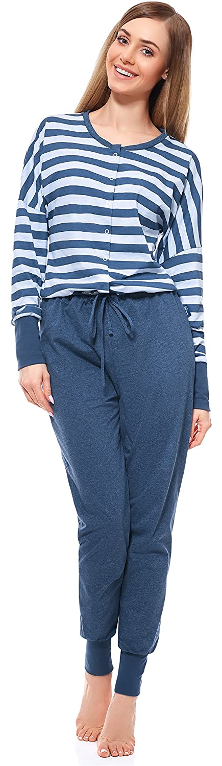 Be Mammy Women's One-Piece Nursing Pyjamas BE20-130