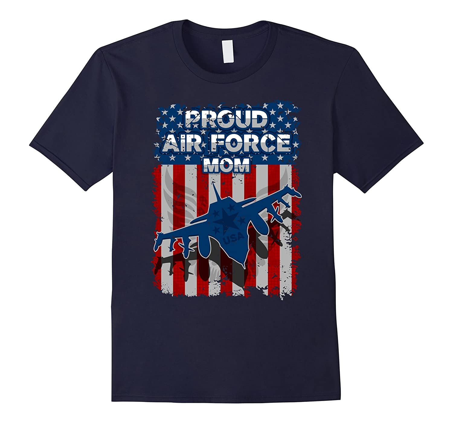 Proud Air Force Mom Freedom Flag T-shirt-CD