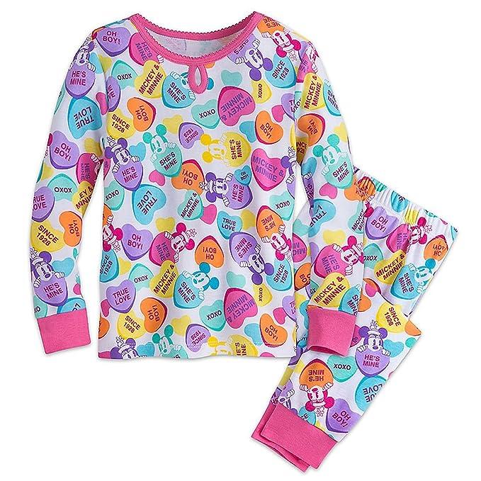Amores de Mickey y Minnie Mouse Pijamas de PJ PALS para ni?as Tama?