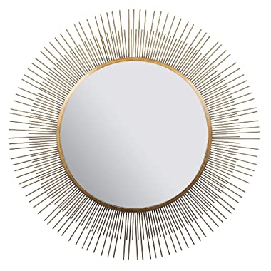 Everly Hart Collection 36  Gold Sunburst Wall Mirrors