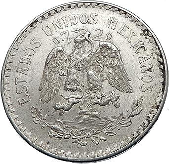 1944 MX 1944 MEXICO - Large SILVER 1 Peso Mexican Coin - 1