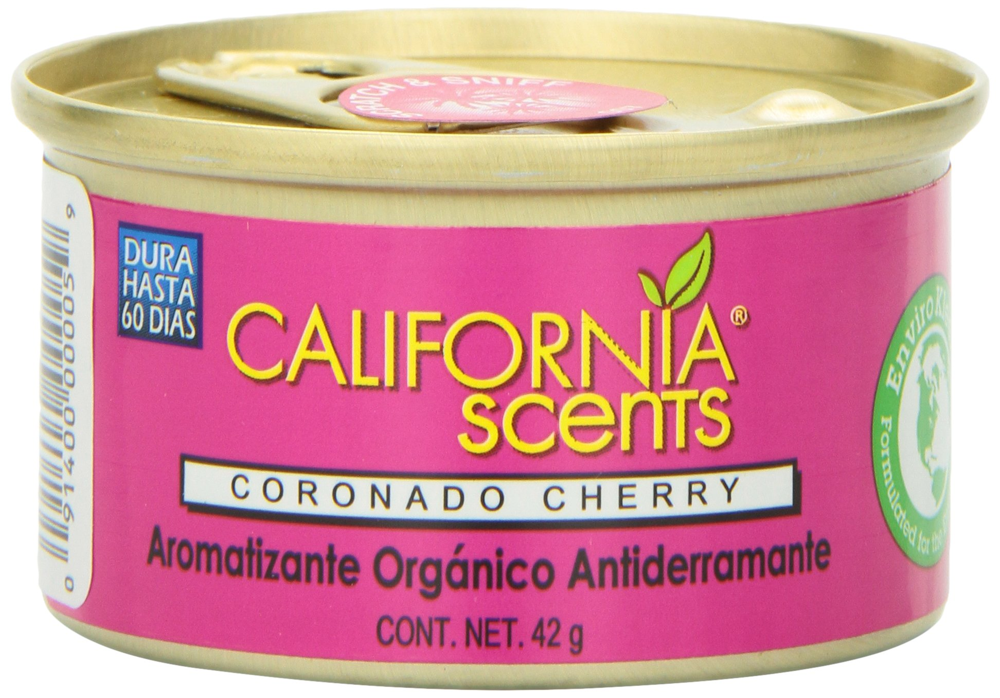 California Scents Spillproof Organic Air Freshener Twin-pack, Coronado Cherry, 1.5 Ounce Canister (Pack of 4)