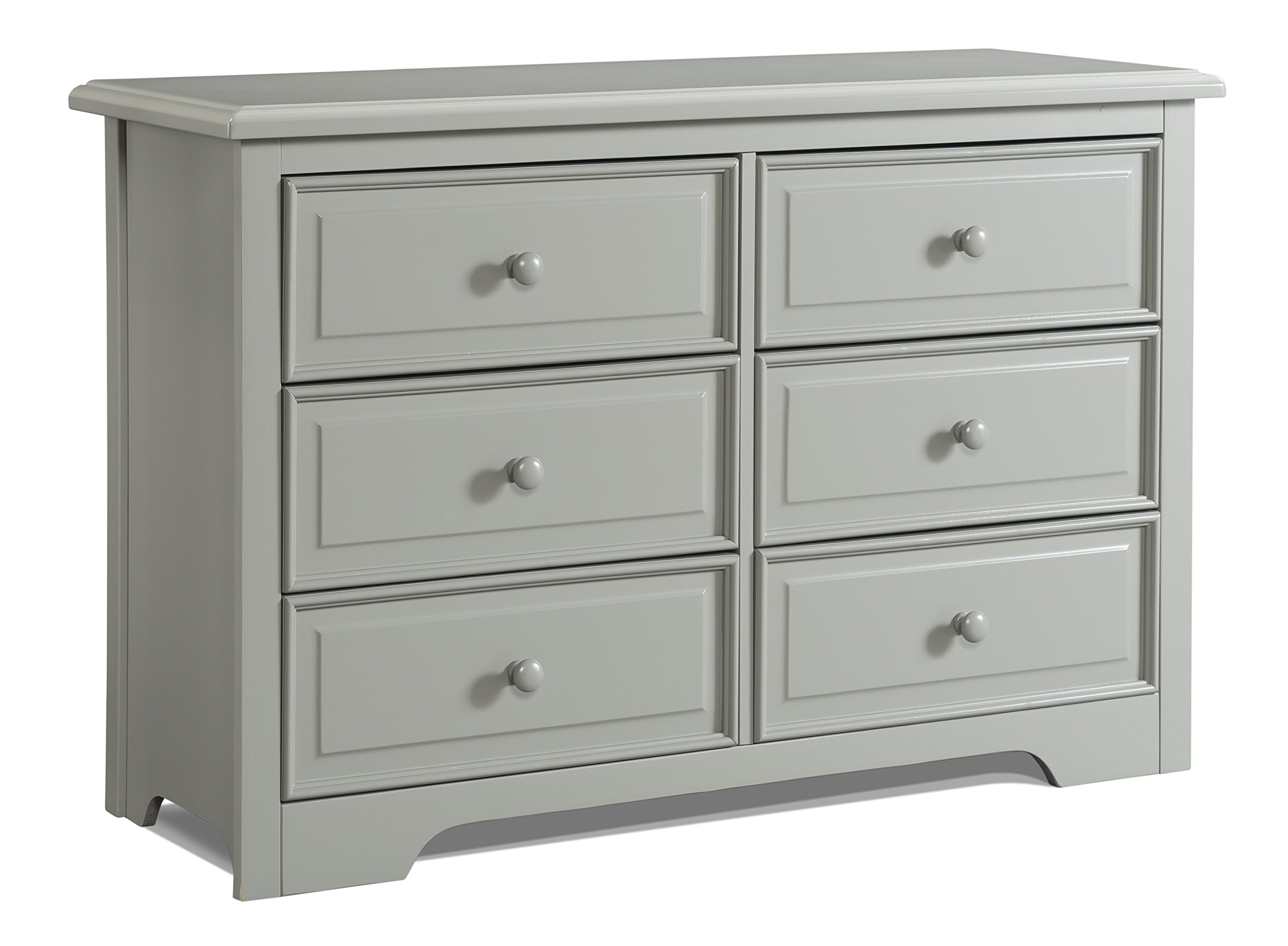 Wood and Composite Construction Ideal for Nursery Toddlers Room Kids Room Kids Bedroom Dresser with 4 Drawers Gray Storkcraft Brookside 4 Drawer Chest