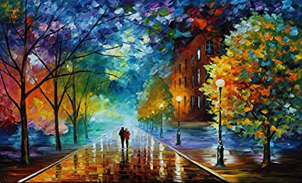 Amazon Com New Romantic Walk Decor Painting By Numbers Canvas Diy