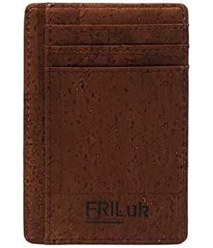 1de1f4baa5ac FRiLuk Vegan Minimalist Wallet RFID Blocking Made of Cork  Amazon.co ...