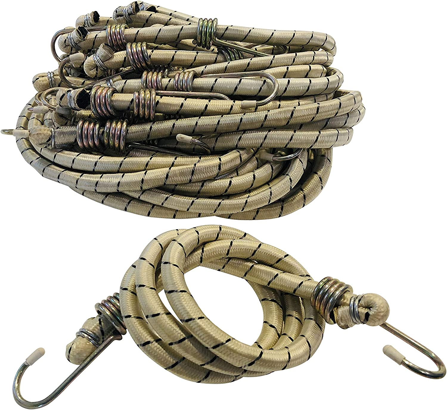 "42/"" Inch Jumbo Bungee Cord with Plastic Coded Hooks Tie Down"