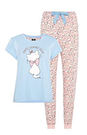 2122a5a67a Ladies Girls Disney Marie Aristocats T-Shirt Pyjamas Womens Pajamas by Bend  The Trend2  Amazon.co.uk  Clothing