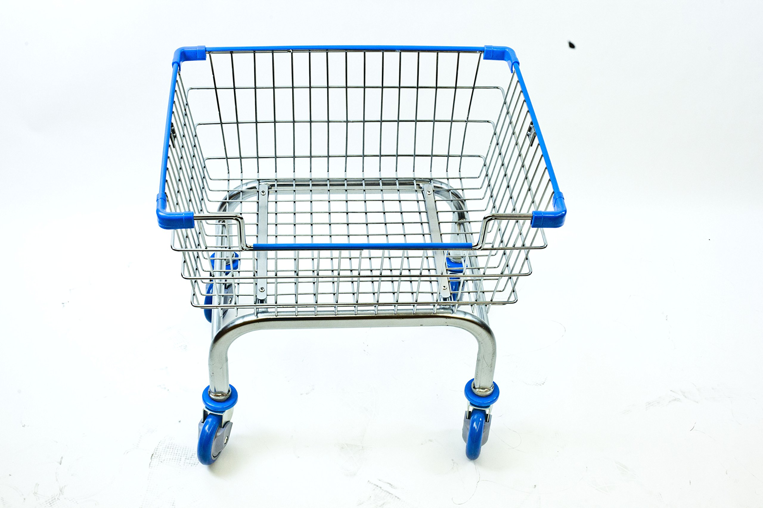 Cart⊃ply Coin Laundry Cart, Laundry Cart[chrome]without Pole Rack (BLUE)