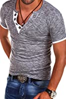 MT Styles V-Neck Buttons T-Shirt Polo BS-544