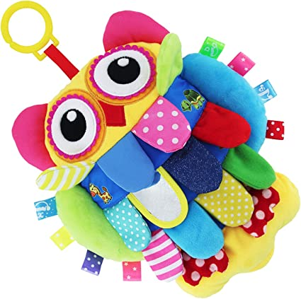 Baby Cloth Books Teether Rattles Early Education Toys Activity Crinkle Book SI