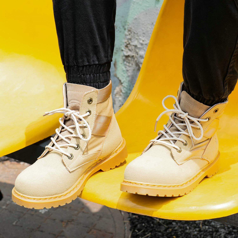 LOVDRAM Stiefel Männer Herbst Herren Stiefelies Paar Modelle Martin Stiefel Wild High Schuhe Stiefel Herrenschuhe
