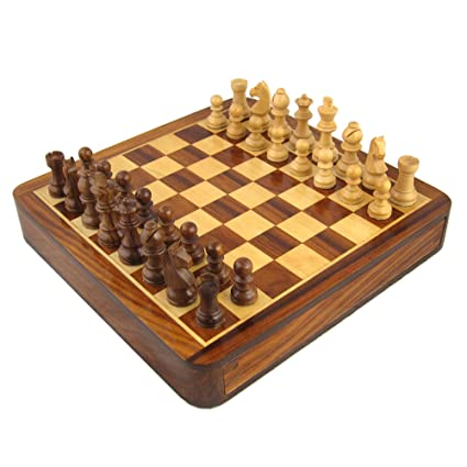 Wood Crafts Games Chess Sets Board And Pieces Handmade Gifts India By  ShalinIndia