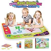 LENBEST 80*60CM Agua Dibujo Pintura, Libro magico Agua, Pizarra Magica Agua, Pinturas para Niños del Agua 5 bolígrafos para Niño