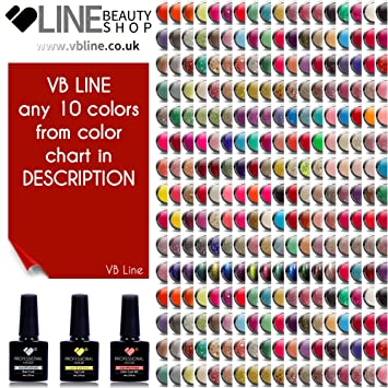 Any 10 Colors Vb Line Uvled Super Polish Nail Gel Color Polish 3