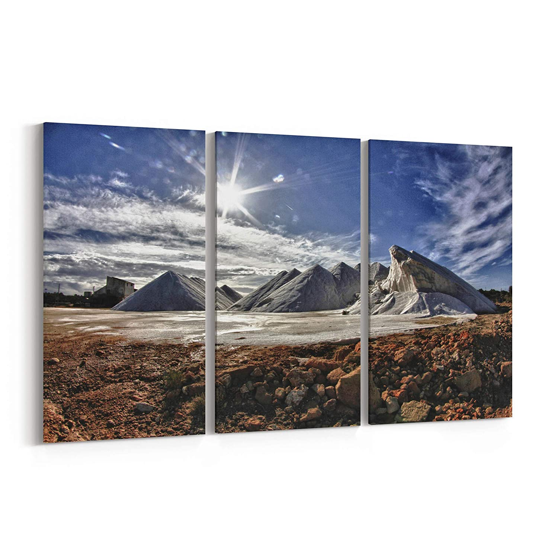 Amazon Com Salt Mountains Canvas Print Salt Mountains Canvas Art