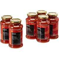 6-Pack Amazon Brand Solimo 24oz Pasta Sauce (Marinara)