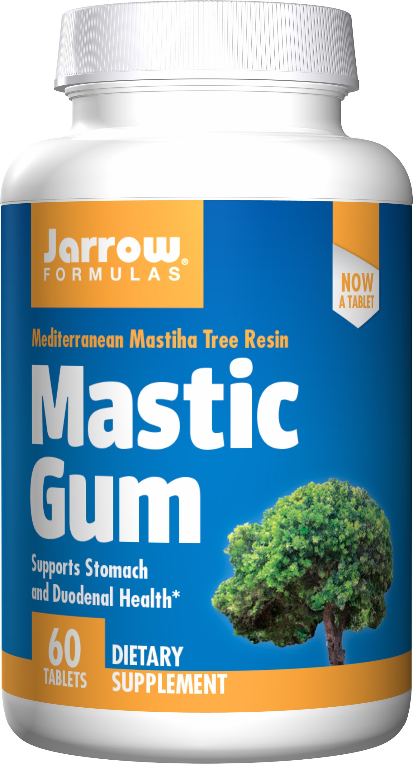 Jarrow Formulas Mastic Gum, Supports the Stomach and Duodenal Health, 60 Tablets