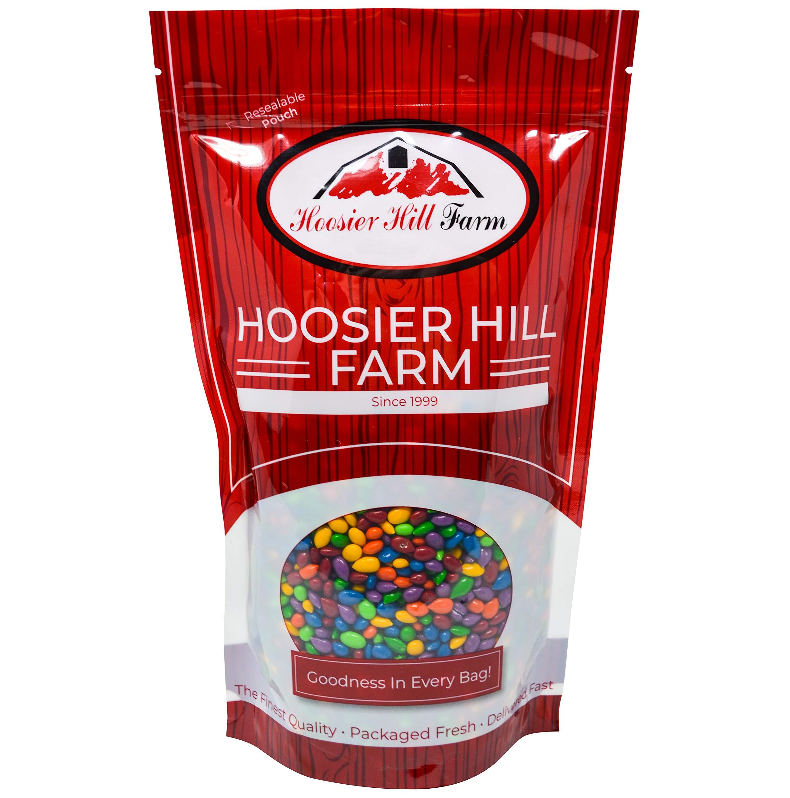 Hoosier Hill Farm Rainbow Seeds, Chocolate Covered & Candy Coated Sunflower Seeds, 80 Ounce by Hoosier Hill Farm