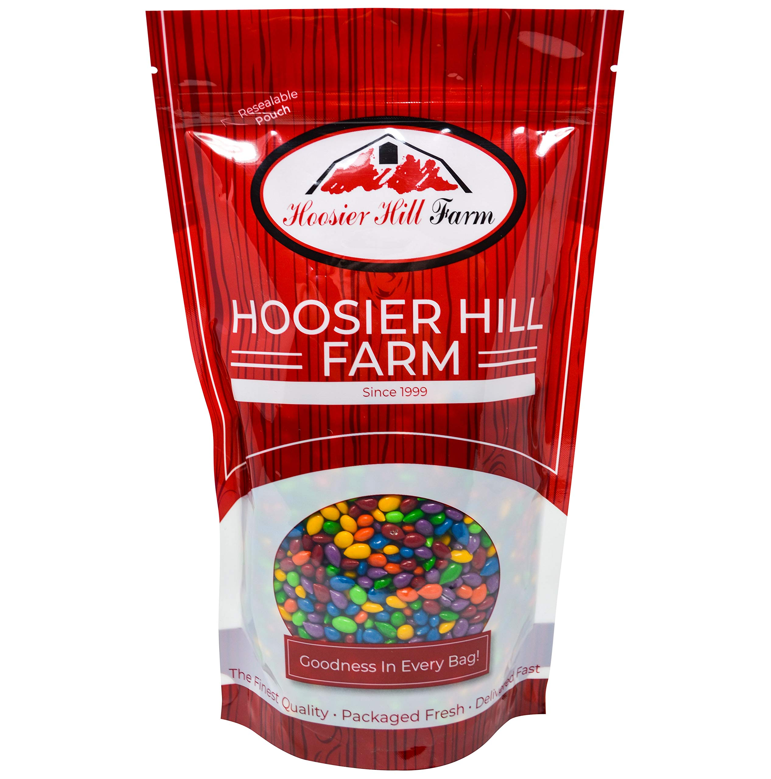 Hoosier Hill Farm Rainbow Seeds, Chocolate Covered & Candy Coated Sunflower Seeds, 5 Lb