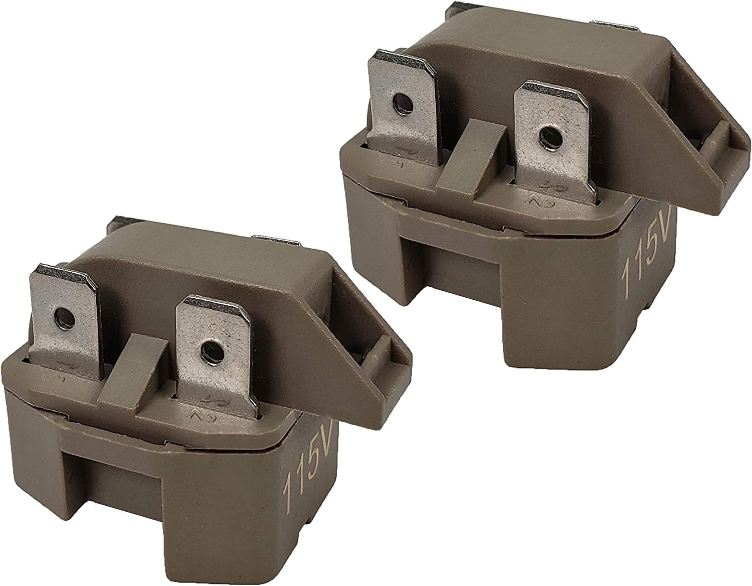 Runner IC-4 Refrigerator Freezer Compressor PTC Start Relay for Frigidaire Gibson GE Whirlpool Ropper Kenmore Replace 32330 WP2262185 WR07X26748 4387913 216594300 (2 Pack)