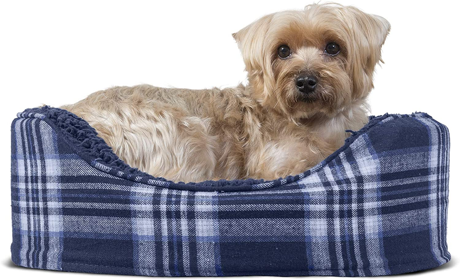Furhaven Pet - Traditional Orthopedic Foam Mattress Dog Bed and Calming Anti-Anxiety Round Oval Nest Cuddler Dog Bed for Dogs and Cats - Multiple Sizes, Styles, and Colors.